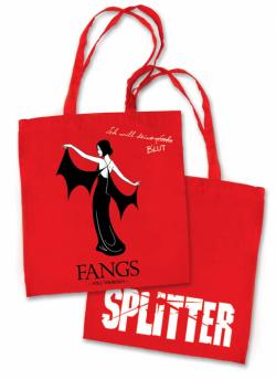 Splitter - Tragetasche STOFF Fangs Rot (10er Pack)