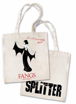 Splitter - Tragetasche STOFF Fangs Natur (10er Pack)