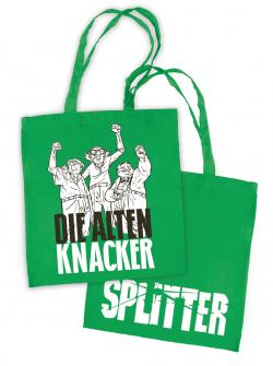Splitter - Tragetasche STOFF Alte Knacker (10er Pack)
