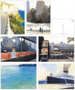Rhapsodie in Blau Postkarten 36er Pack